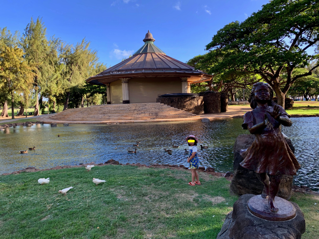 カピオラニ公園の池