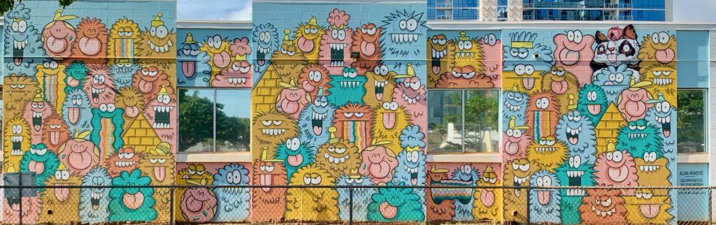 カカアコで一番有名なウォールアート