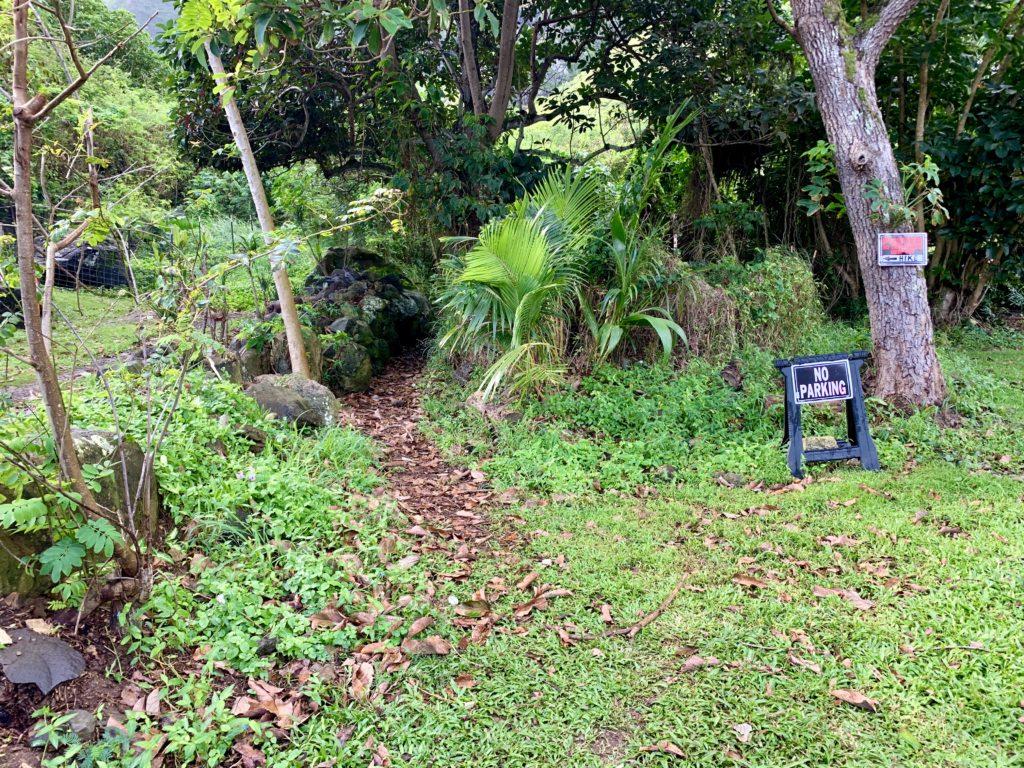 トレイルの入り口