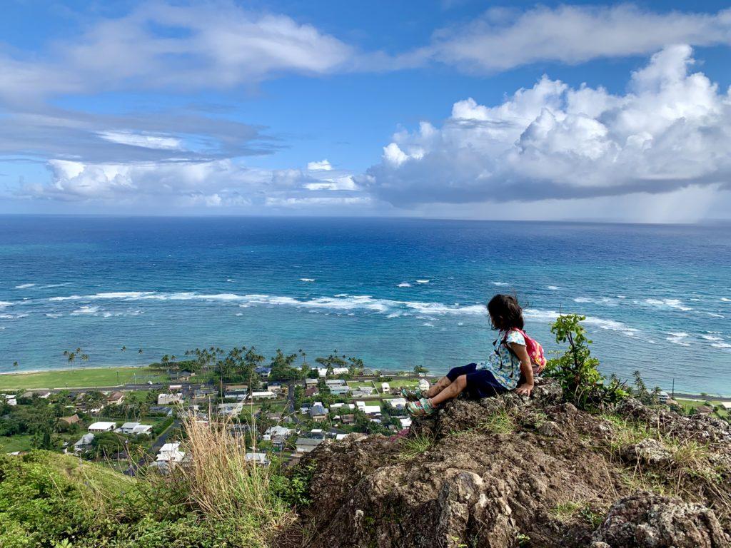 海とカアアワの眺め
