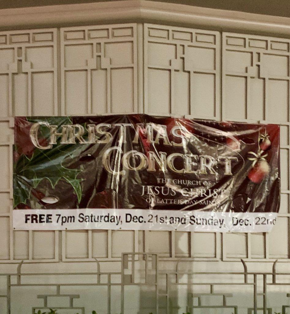 クリスマスコンサートのポスター