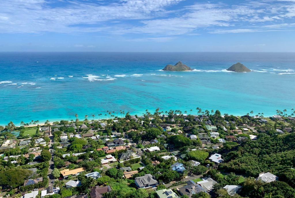 ピルボックスからのラニカイビーチの眺め