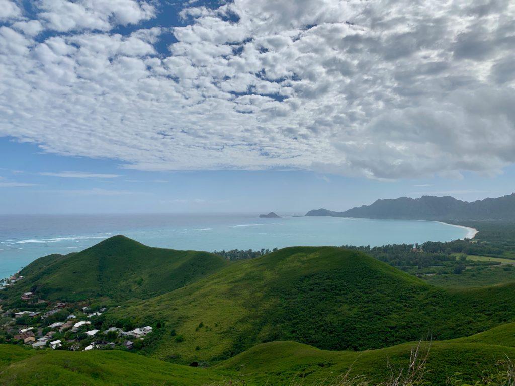 ワイマナロビーチの眺め