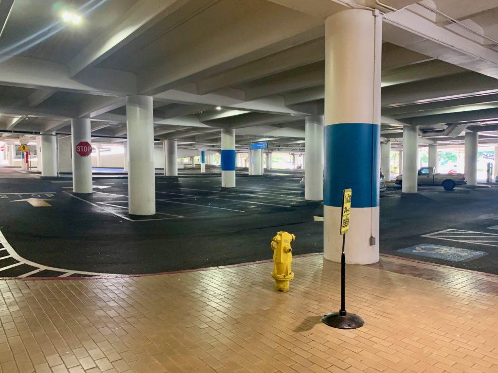 駐車場もガラガラ