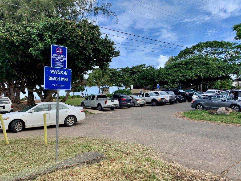 エフカイビーチの駐車場