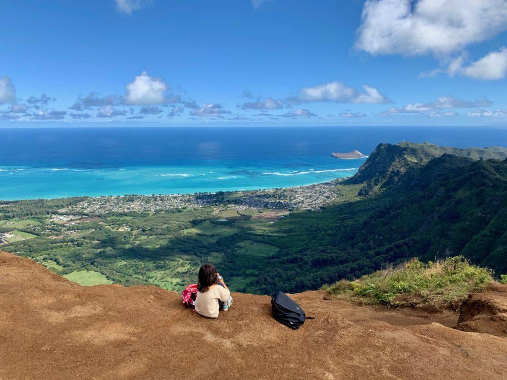 頂上からの景色 ワイマナロビーチが見える