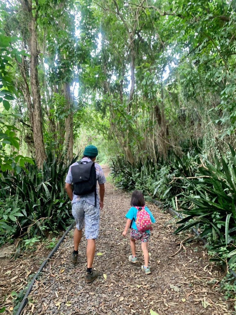 マキキ・アーボリータム・トレイルを歩く私と娘