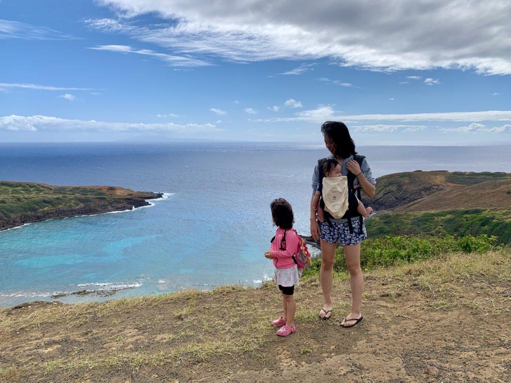 ハナウマベイ(高度アップ)と妻と娘と息子