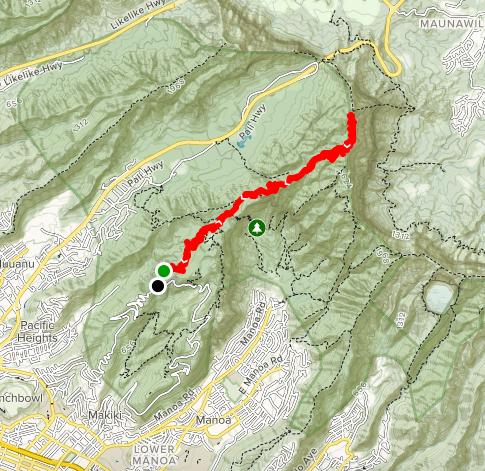 コナフアヌイトレイルのマップ