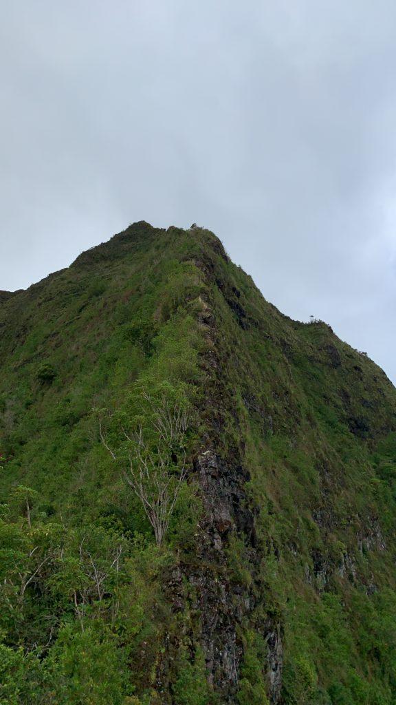 ピリワレリッジのさらに先のK1への道 とても急な岩の尾根が見えている。