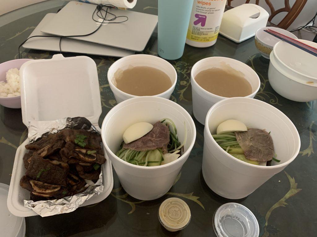 Aセット 冷麺二つとカルビ